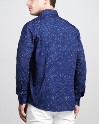 Versace Broken-Stripe Sport Shirt