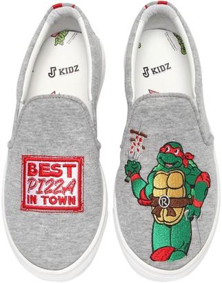 Joshua Sanders Raphael Ninja Turtle Slip-on Sneakers