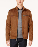 Ryan Seacrest Distinction Ryan Seacrest Distinctionandtrade; Men's Modern-Fit Faux-Suede Moto Jacket, Created for Macy's