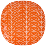 Orla Kiely Linear Stem Melamine Side Plate, Red