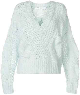 IRO V-Neck Open-Knit Jumper