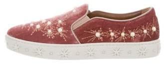 Aquazzura Cosmic Pearls Slip-On Sneakers w/ Tags