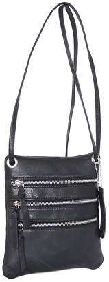 Nino Bossi Handbags Women's Handbags Black - Black Carolina Leather Crossbody Bag