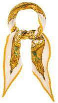 Hermes Monnaieset Symboles Parissii Silk Plissé Scarf