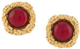 Chanel Pre Owned 1986-1992 Gemstone Earrings