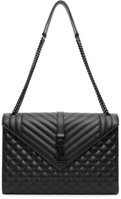 Saint Laurent Black Large Envelope Bag