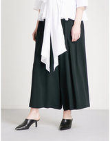 Tome Wide cropped high-rise crepe trousers