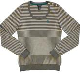 U.S. Polo Assn. Striped Button Detail Crewneck