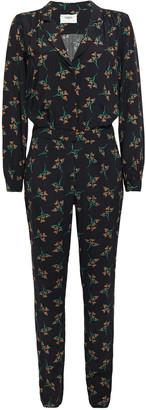 BA&SH Fady Belted Floral-print Crepe Jumpsuit
