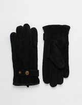 Dents Chester Suede Gloves - Black