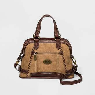 Bolo Satchel Handbag With Whipstitch And Anchor Detail -