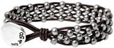 Uno de 50 Symphony Woven Beaded Leather Bracelet