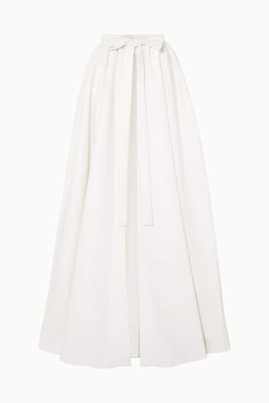 Sorrento Cloqué Wrap Maxi Skirt - Ivory