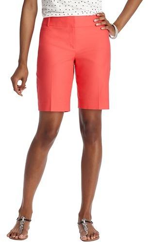 """LOFT Julie Stretch Cotton Walking Shorts with 10"""" Inseam"""
