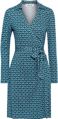 Diane von Furstenberg Jeannie Printed Silk-jersey Wrap Dress