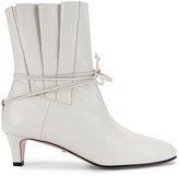 Gucci Leather Ankle Boots in Dusty White | FWRD