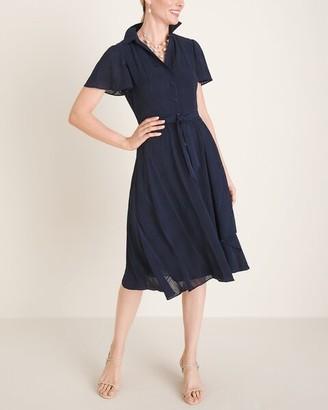 Maggy London Flutter-Sleeve Shirt Dress