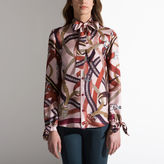 Bally Printed Pussy Bow Blouse