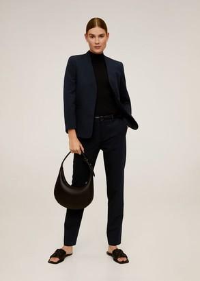 MANGO Essential structured blazer dark navy - 2 - Women