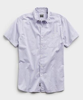 Todd Snyder Saint Tropez Button Collar Short Sleeve Shirt in Light Lilac