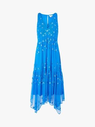Monsoon Carmela Floral Embellished Midi Dress