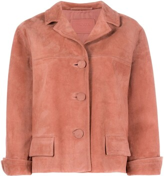 Prada Cropped Suede Jacket