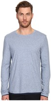 Vince Pima Long Sleeve Double Layer Crew Neck T-Shirt