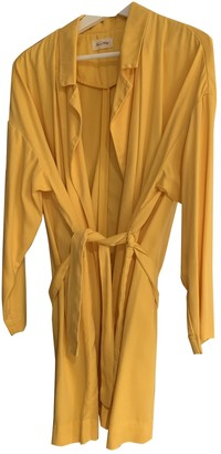 American Vintage Yellow Cotton Trench Coat for Women
