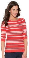M&Co Ribbed stripe jumper