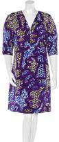 Marni Abstract Print Knee-Length Dress