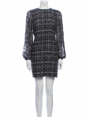 Dolce & Gabbana Tweed Pattern Mini Dress Grey