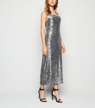 New Look Sequin Embellished Midi Slip Dress