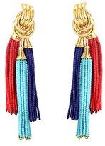 Katerina Psoma Women's Multicolour Beaded Tassels Earrings
