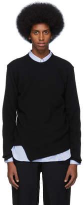 Comme des Garcons Homme Deux Black Wool Crewneck Sweater