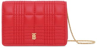 Burberry TB quilted chain wallet