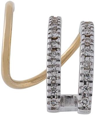 Maria Black 14kt gold Bess Blanc diamond earring (right)