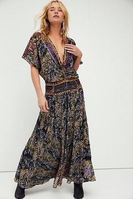 Free People Furnished Floral Maxi Dress
