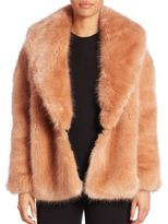 Opening Ceremony Faux Fur-Front Cardigan