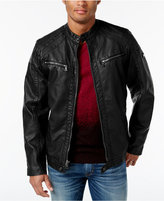INC International Concepts Men's Faux Leather Zip-Front Moto Jacket, Only at Macy's