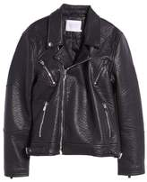 Eleven Paris ELEVENPARIS Elmut Faux Leather Biker Jacket