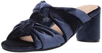 Kaanas Women's Newcastle Knotted Open Toe Slide Chunky Heel Pump 7 Regular US