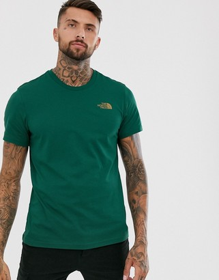 The North Face Simple Dome t-shirt in night green