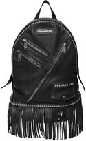 DSQUARED2 Punk Studded & Fringed Leather Backpack