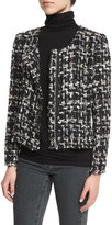 IRO Nalokie Houndstooth Boucle Jacket, Black/White