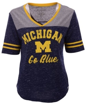 Colosseum Women's Michigan Wolverines Mr Big V-neck T-Shirt