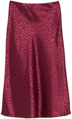 re:named apparel Jacquard Leopard Print Midi Skirt