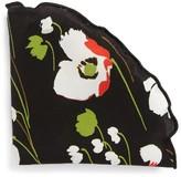 Alexander Olch Men's Floral Print Silk Pocket Round