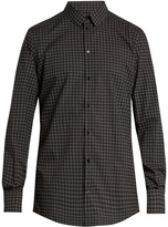 Dolce & Gabbana Circle-print double-cuff cotton shirt