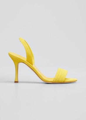 Manolo Blahnik Vergasli Suede Slingback Sandals