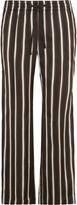 Joseph Lou Lou striped satin wide-leg pants